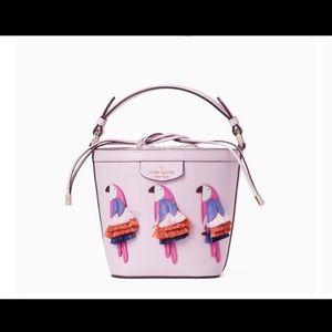 Kate spade parrot bucket bag new